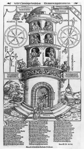 Turm der Grammatik der Humanisten Heinrich Vogtherr d. Ä./ Valentin Boltz, Turm der Grammatik, Zürich 1548