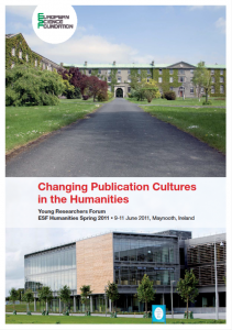"ESF Young Researchers Forum ""Changing Publication Cultures"""